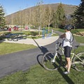 Gearing up at the Prospector Park Trailhead.- The Rail Trail