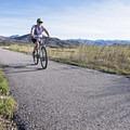 Biking the Rail Trail.- The Rail Trail