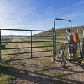 A cattle gate. Please close it behind you.- The Rail Trail