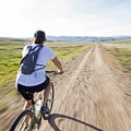 Long open stretches along the Rail Trail with a lot of solitude and great views.- The Rail Trail