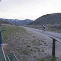 Pressure gauges and an air pump along the Rail Trail. Park City really takes care if its riders.- The Rail Trail