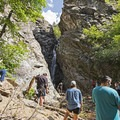 A busy day at Rocky Mouth Falls.- Rocky Mouth Falls