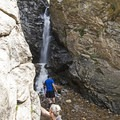 Rocky Mouth Falls is tucked into a rocky alcove, hence the name.- Rocky Mouth Falls