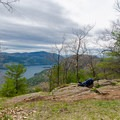 This nice view is right next to a lean-to that makes an excellent destination for backpacking.- Tongue Mountain Range