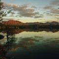 Sunrise over Bartlett Lake.- Bartlett Lake