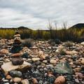 A cairn at Bartlett Lake.- Bartlett Lake