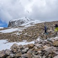 A long and tedious hike across the boulders.- Wheeler Peak
