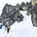 Headed up the stairmaster. - Phalanx Mountain via Spearhead Glacier