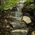 Rock stairs.- Little Bearwallow Mountain