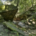 Wedge Rock.- Rocky Hollow Falls Canyon Nature Preserve: Trail 3