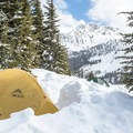 Some skiers opted to bring tents in case the hut was full.- Keith Flavelle Memorial Hut