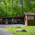 A small campground store and snack spot is located at the entrance of the campground. - Elkmont Campground