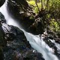 Reservoir Canyon Falls cascades 30 feet.- Reservoir Canyon Falls