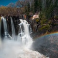 High Falls viewed from the U.S. side of the river.- Grand Portage State Park