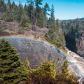 Double rainbow over Pigeon River.- Grand Portage State Park