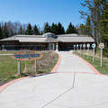 The visitor center at Grand Portage State Park.- Grand Portage State Park