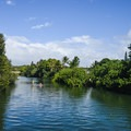 Rent a paddleboard or kayak to take down the river.- Historic Hale'iwa Town