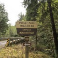 The trailhead for Parker Falls in Umpqua National Forest.- Lower + Upper Parker Falls