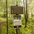 Signage along the trail to Parker Falls.- Lower + Upper Parker Falls