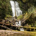 The picturesque Lower Parker Falls.- Lower + Upper Parker Falls
