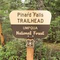 The Pinard Falls Trailhead.- Pinard Falls