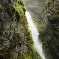 Pinard Falls from the lower vantage point.- Pinard Falls