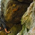 Bouldering routes in Governor Dodge State Park.- Governor Dodge State Park
