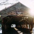 Albany Covered Bridge at the beginning of the hike- Boulder Loop Trail
