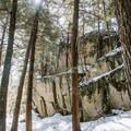 Large boulders along the Boulder Loop Trail.- Boulder Loop Trail