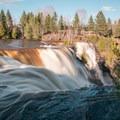 The side of Kakabeka Falls.- Kakabeka Falls Provincial Park