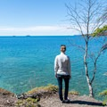 The trail overlooks the beautiful Lake Superior.- The Sea Lion
