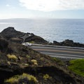 You ascend the ridge across the street from the parking lot.- Koko Crater Arch