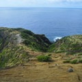 The trail becomes more inclined right before the arch.- Koko Crater Arch
