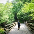 Wide trails and bridges make Deep Creek a great spot for a family adventure.- Deep Creek Loop