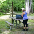 Deep Creek Campground, as well as the picnic area nearby, offers plenty of spots for a lunch break.- Deep Creek Campground