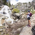 You can walk down to the base of the falls.- Horsetail Falls via Dry Creek Trail