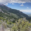 Panorama of Dry Fork Canyon.- Horsetail Falls via Dry Creek Trail