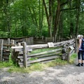 The Mountain Farm Museum is made up of farm buildings and structures brought to one site from all over Smoky Mountain National Park.- Oconaluftee River Trail + Mountain Farm Museum