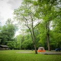 Smokemont Campground offers three spacious and open group campsites.- Smokemont Campground