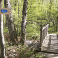 The trail entrance on Route 80 across from Chatfield Hollow.- Chatfield Trail