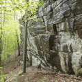 More rock faces that extend adjacent to the trail.- Chatfield Trail