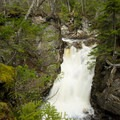 Rocky Glen Falls.- Lonesome Lake via Basin Cascade + Cascade Brook Trails