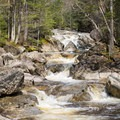 Cascade Brook is aptly named.- Lonesome Lake via Basin Cascade + Cascade Brook Trails