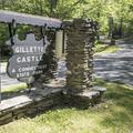 Sign at the entrance.- Gillette Castle State Park