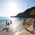 Ka'anapali Beach and Black Rock in front of the Sheraton Maui Resort and Spa.- Ka'anapali Beach + Black Rock