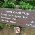 Signage along the Appalachian Trail.- Charlie's Bunion