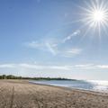 The beach along Long Island Sound.- Sherwood Island State Park