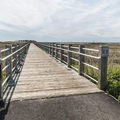 The entrance to the 900-foot boardwalk.- Silver Sands State Park