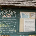Signage for the Hopkins Memorial Forest.- Snow Hole + Taconic Crest Trail