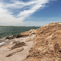 Looking northwest toward New Haven, Connecticut.- Lighthouse Point Park